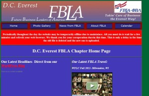 Former D.C. Everest FBLA Homepage